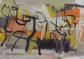 PROHASKA, Ray. Oil on Canvas. Abstract Composition