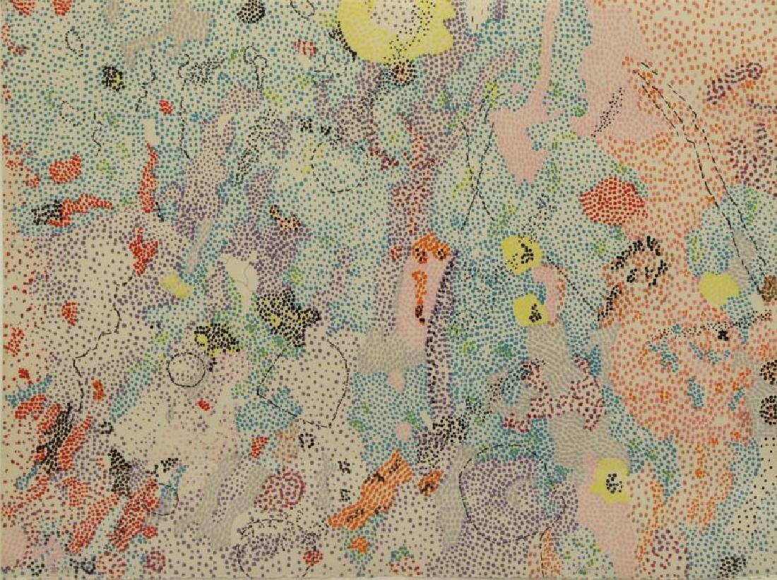 GRAVES, Nancy. Color Lithograph, 1972.