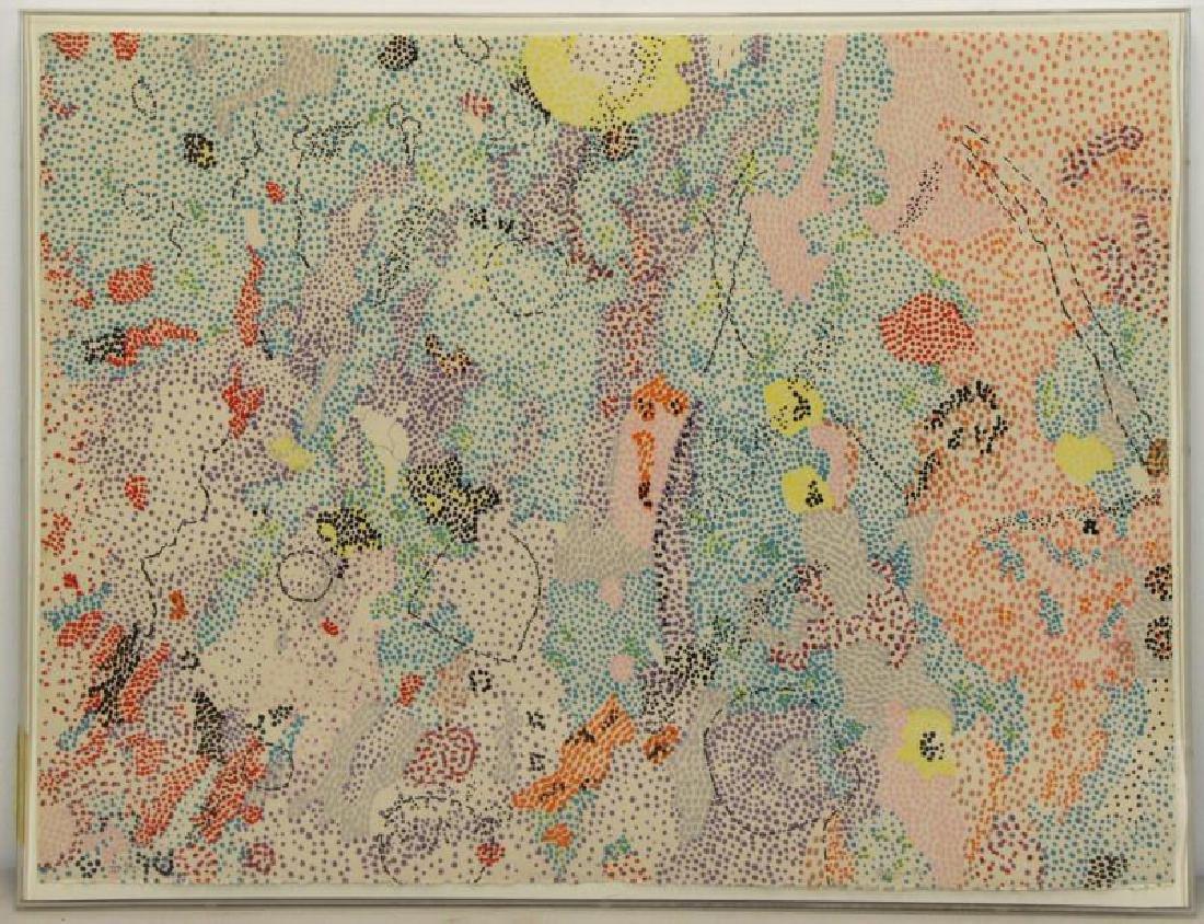 GRAVES, Nancy. Color Lithograph, 1972. - 2