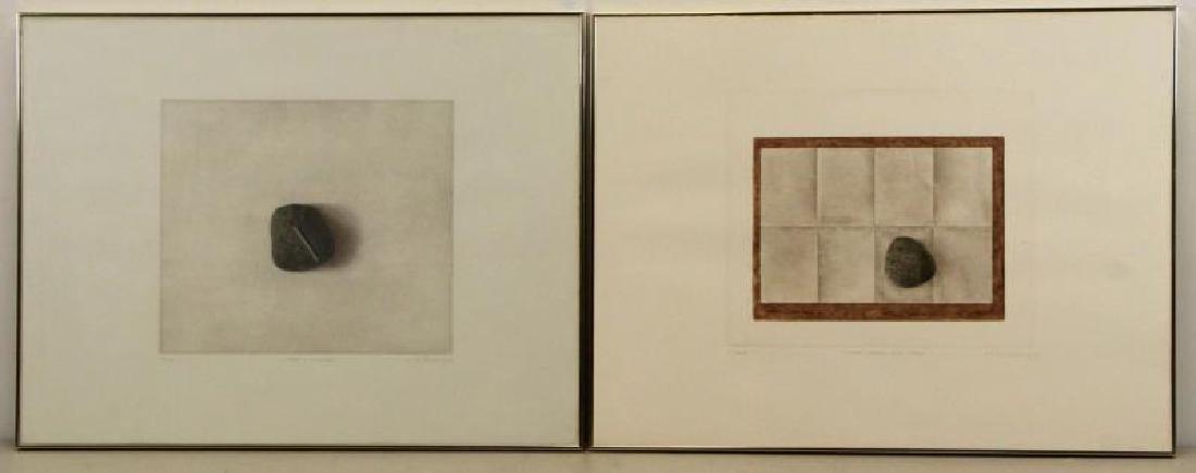 HWANG, K.B. Two Mezzotints.