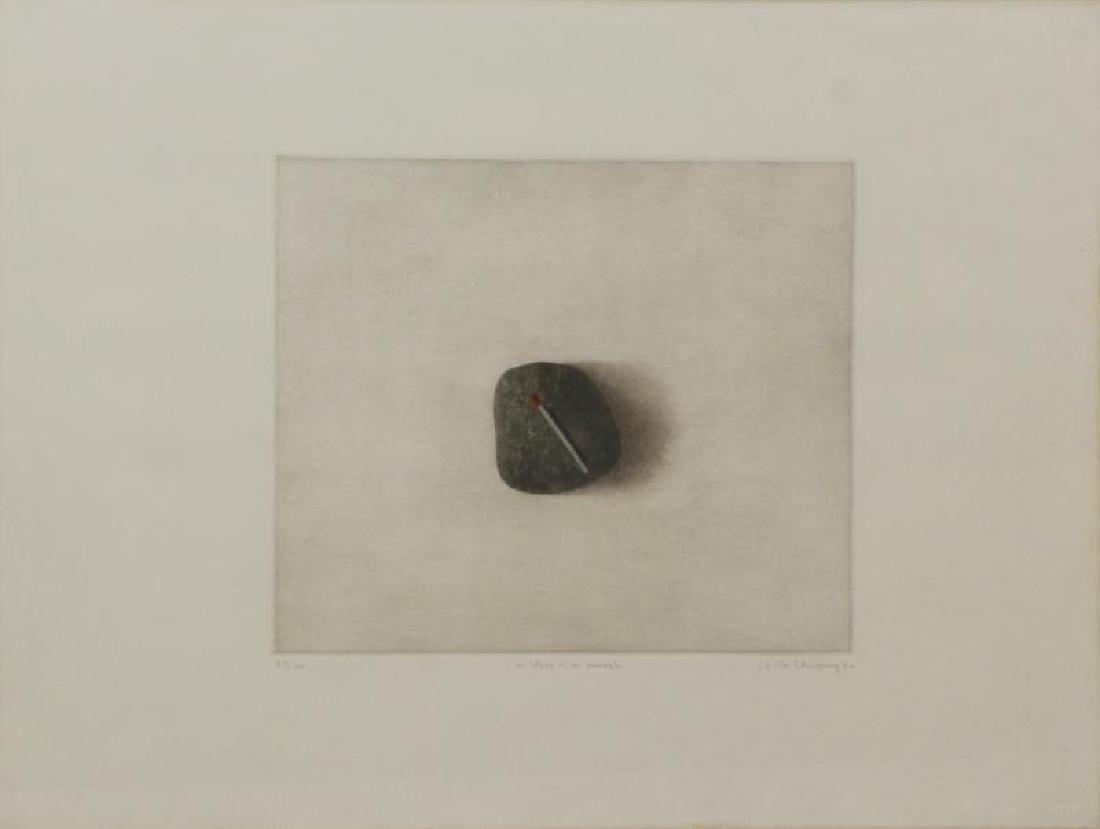 HWANG, K.B. Two Mezzotints. - 2