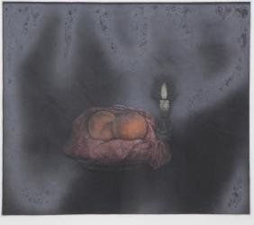 "YOKAI, Tomoe. Mezzotint ""Two Oranges""."