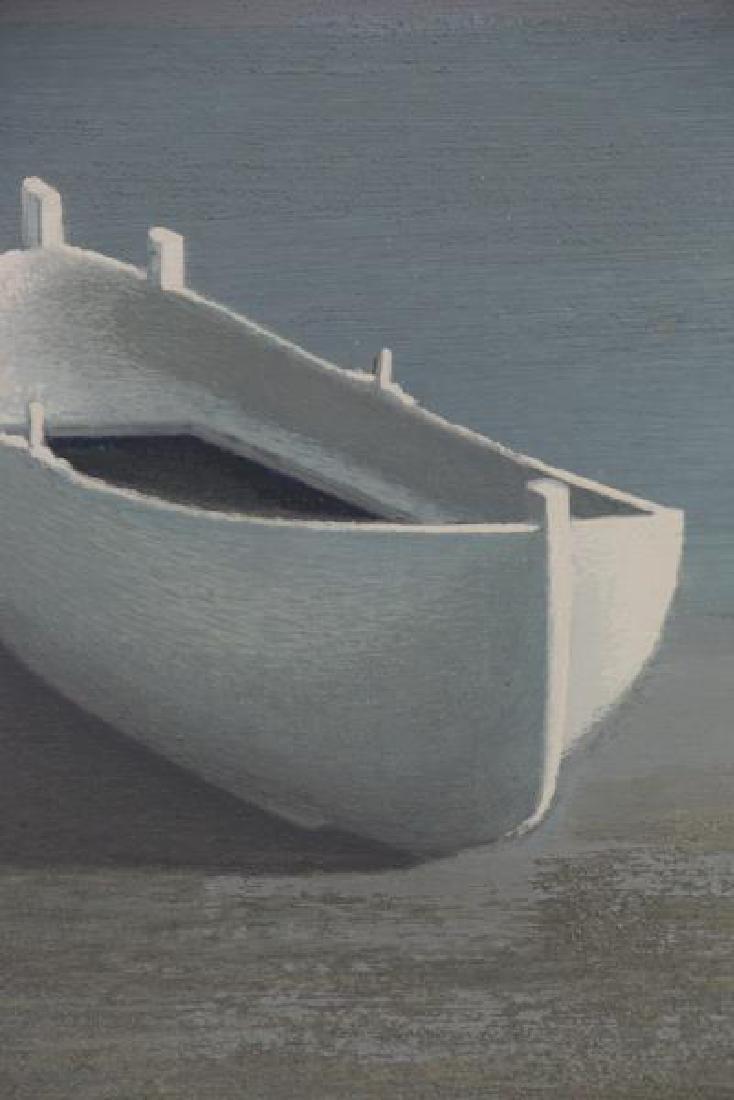 LAZZARO, Walter. Oil on Board. The White Boat, - 3