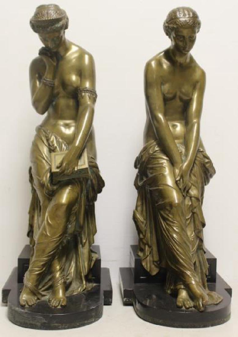 2 Large and Impressive Bronze Sculptures.