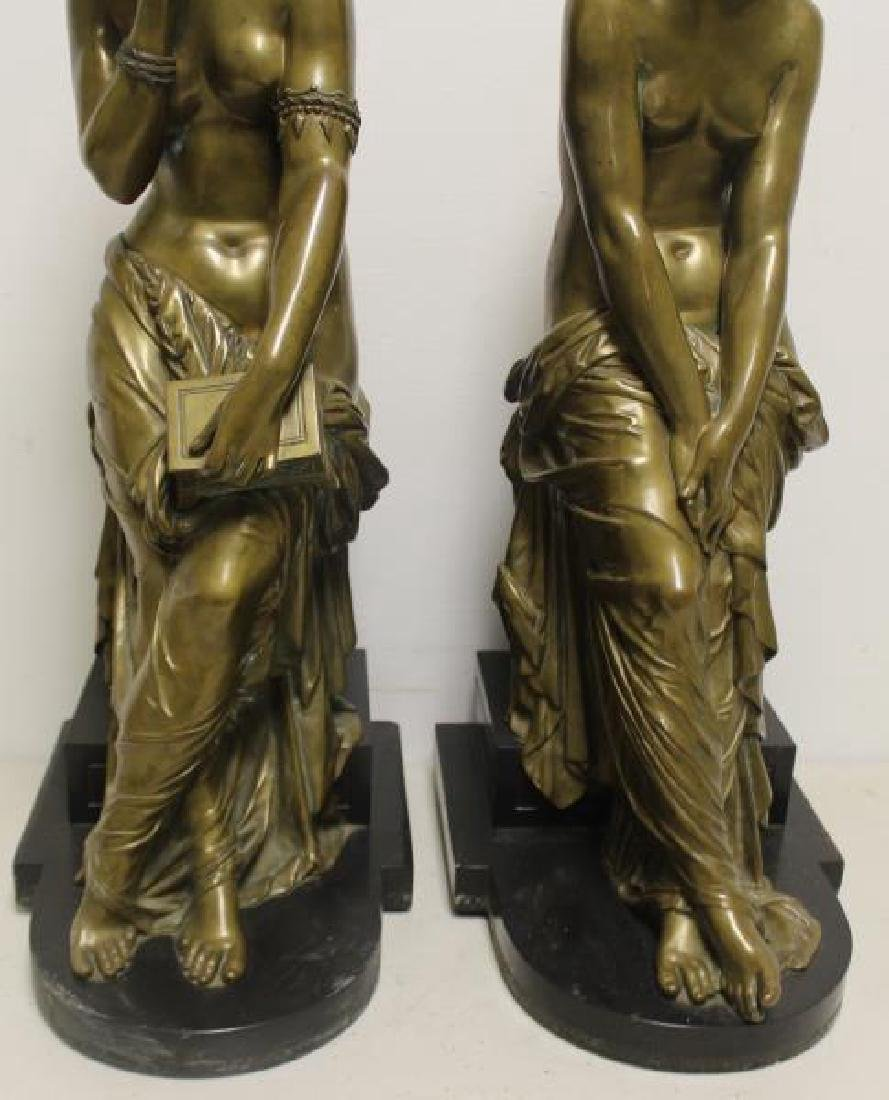 2 Large and Impressive Bronze Sculptures. - 4