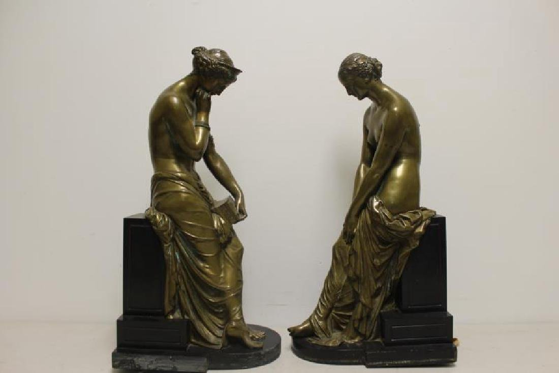 2 Large and Impressive Bronze Sculptures. - 5
