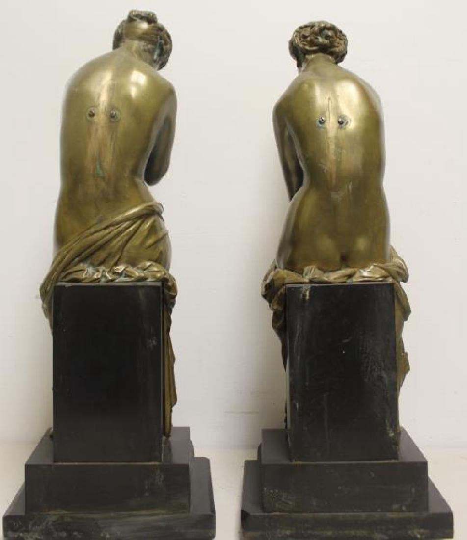 2 Large and Impressive Bronze Sculptures. - 6