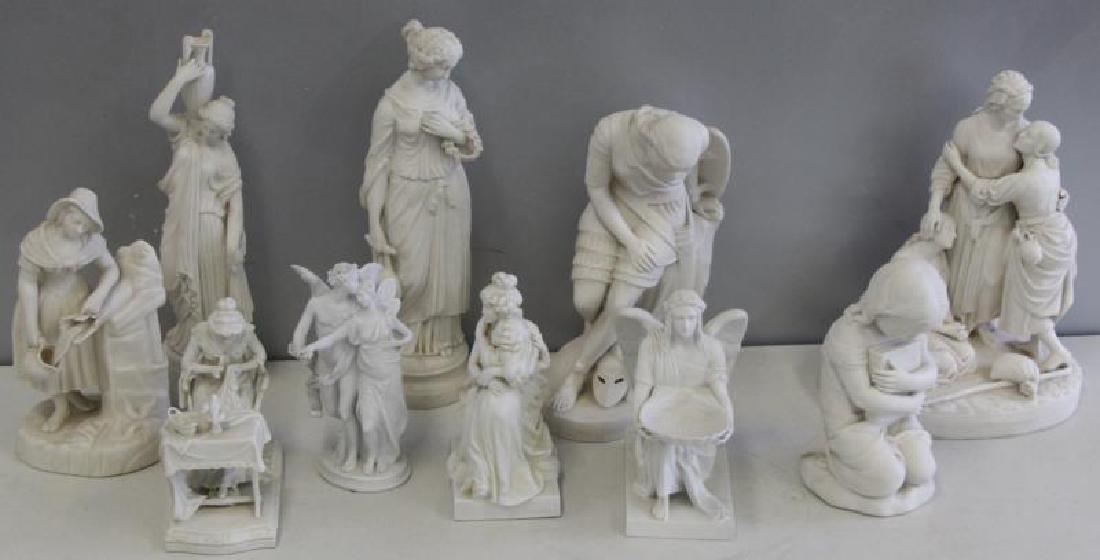 Large Grouping of Parian Porcelain Sculptures,