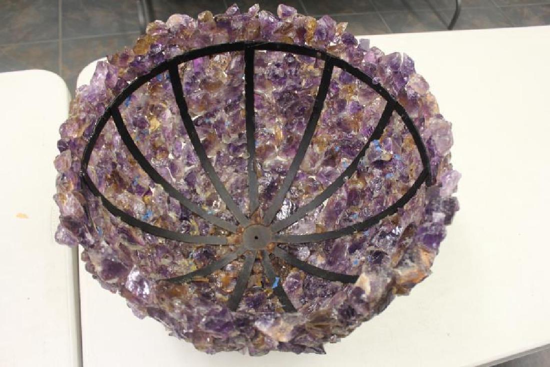 Large and Impressive Stone Encrusted Lamp Shade - 4