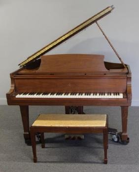 Steinway and Sons Model M Baby Grand Piano.