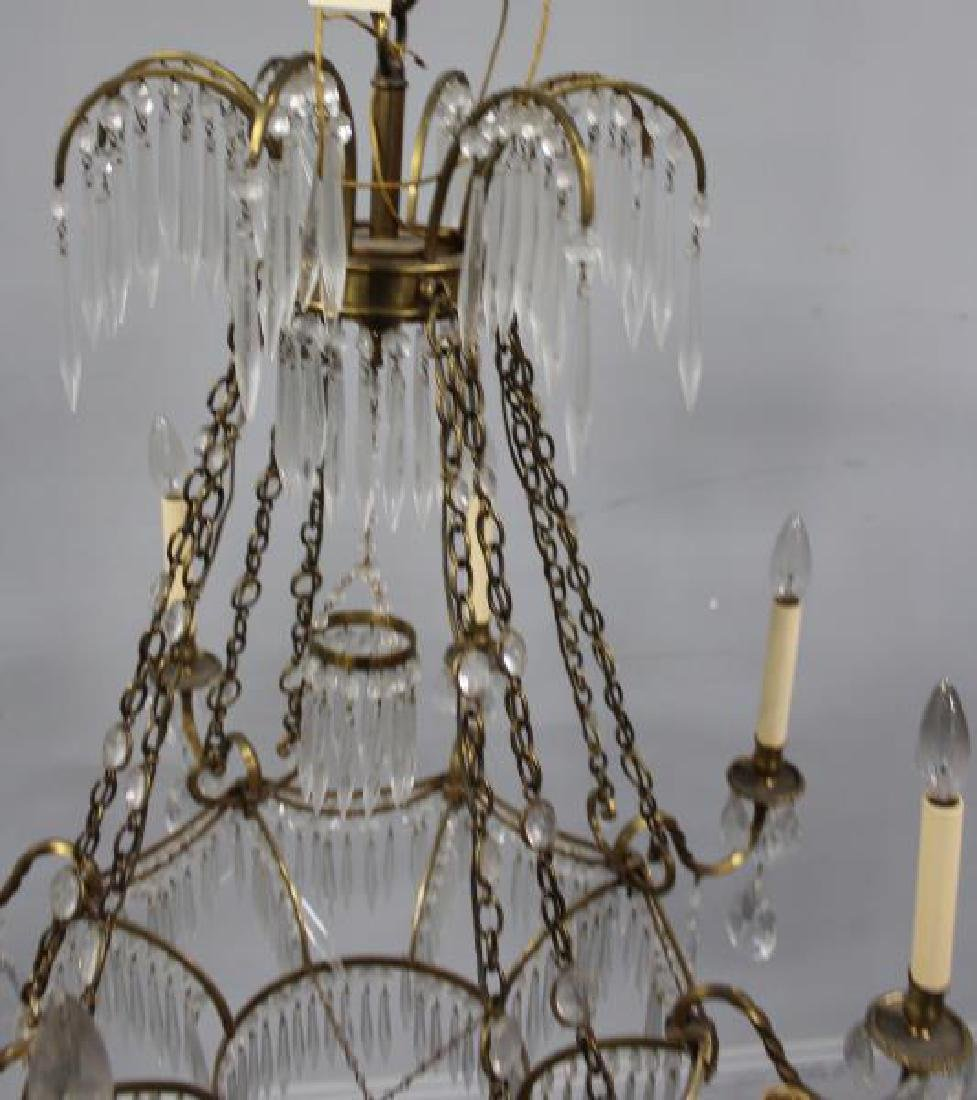 Antique Continental Gilt Metal and Crystal - 4