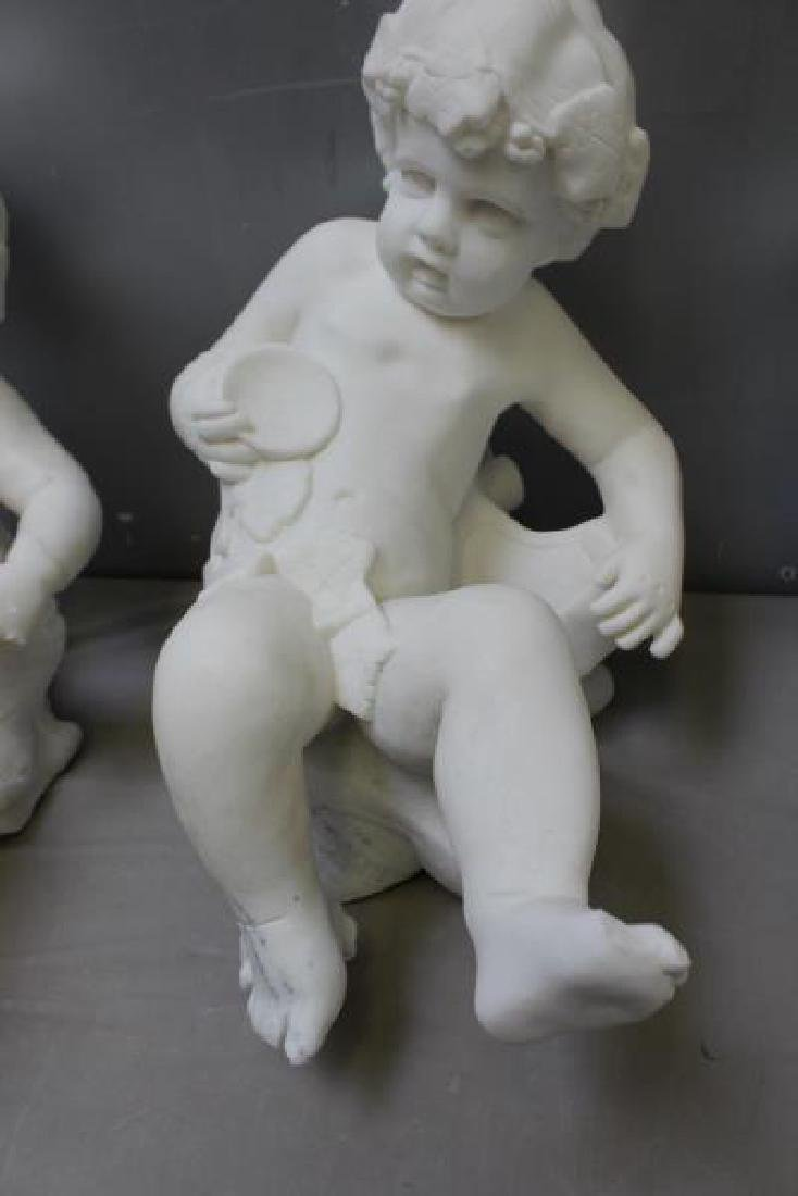 4 Vintage and  Marble Putti Sculptures. - 4