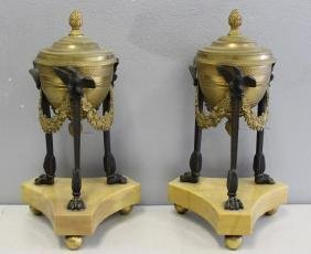 Fine Quality Pair of Dore Bronze and Patinated