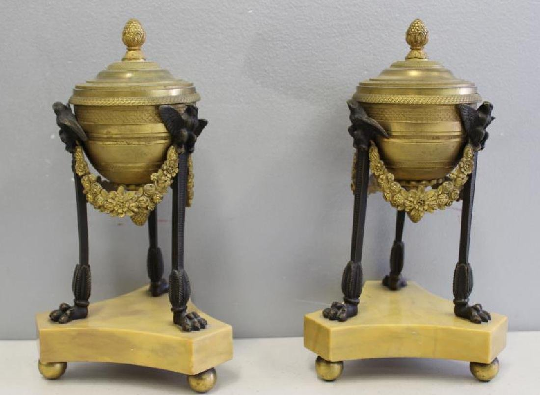 Fine Quality Pair of Dore Bronze and Patinated - 2