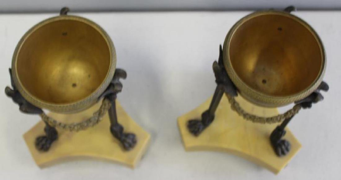 Fine Quality Pair of Dore Bronze and Patinated - 3