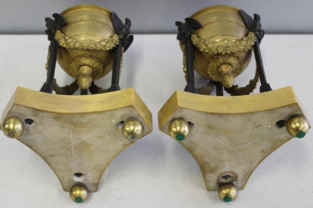 Fine Quality Pair of Dore Bronze and Patinated - 5
