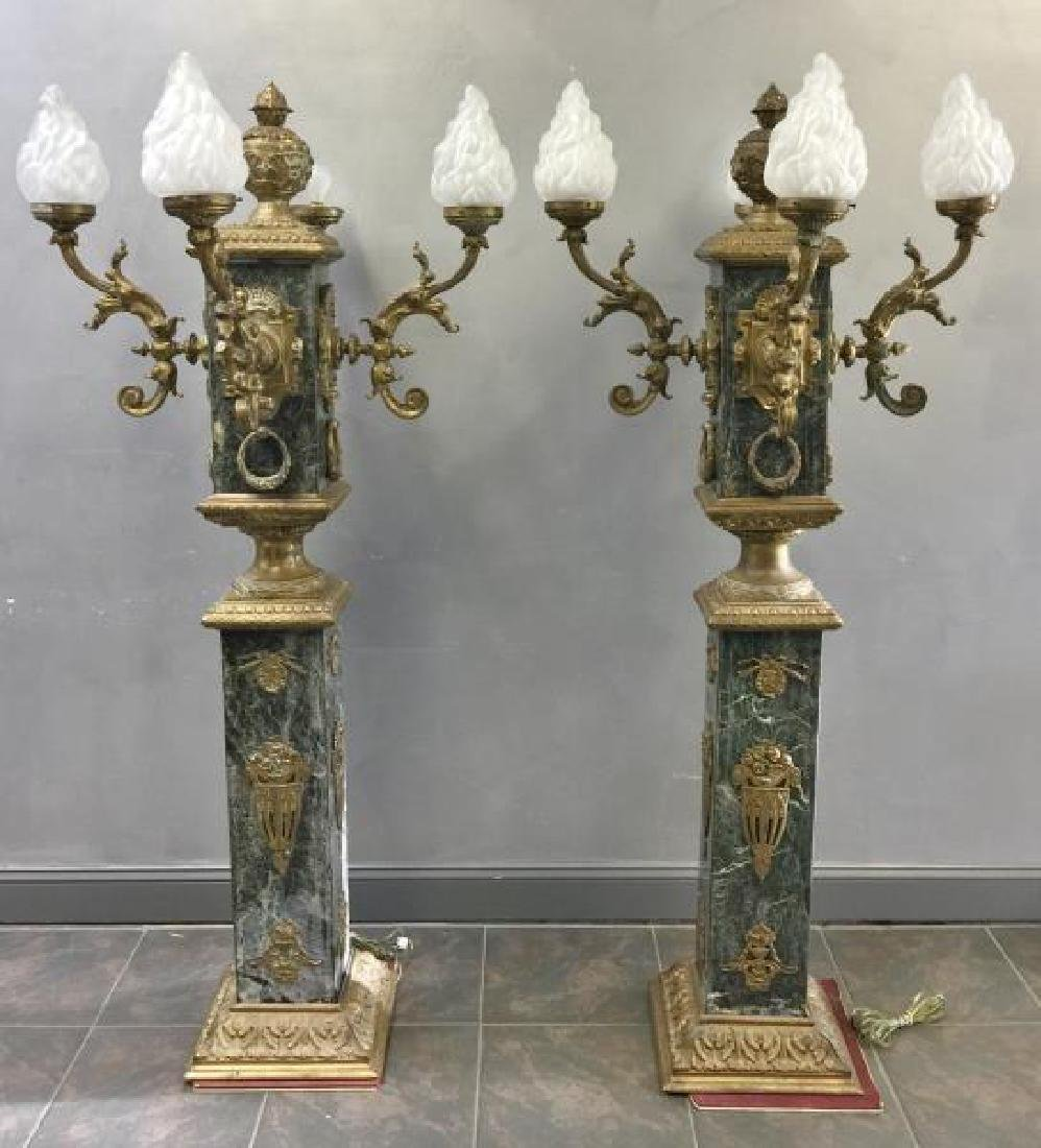 Pair of Vintage and Large Marble and - 2