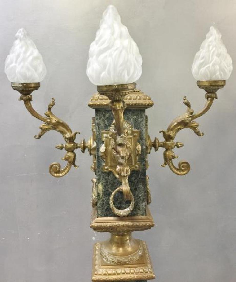 Pair of Vintage and Large Marble and - 3