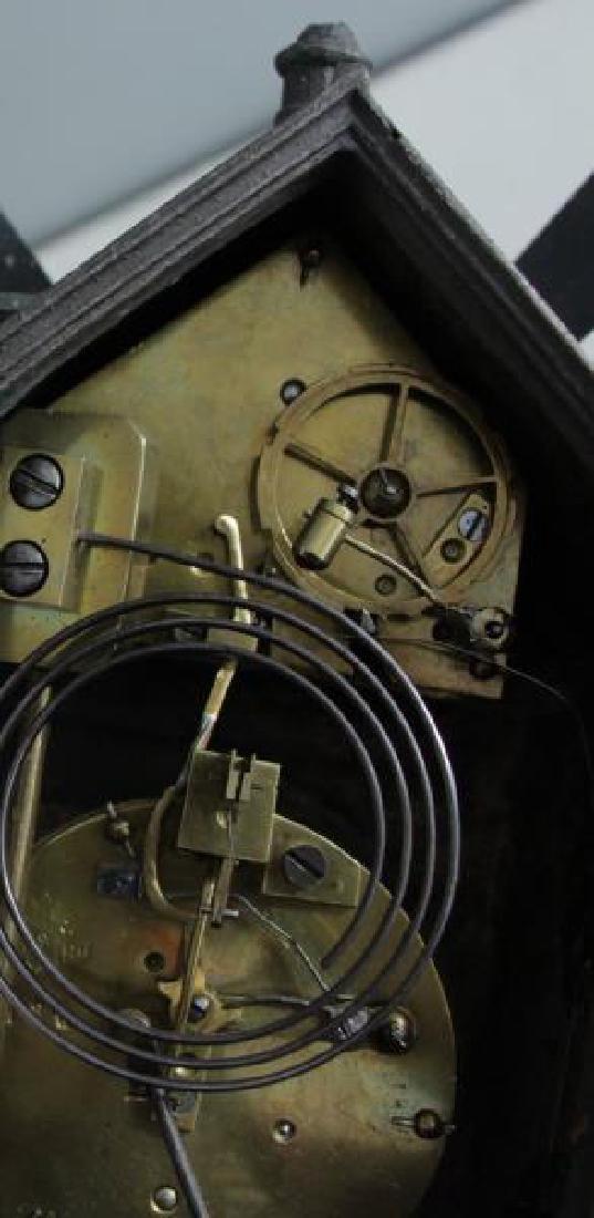 "Patinated Metal ""Mount Jolly"" Windmill Clock. - 8"