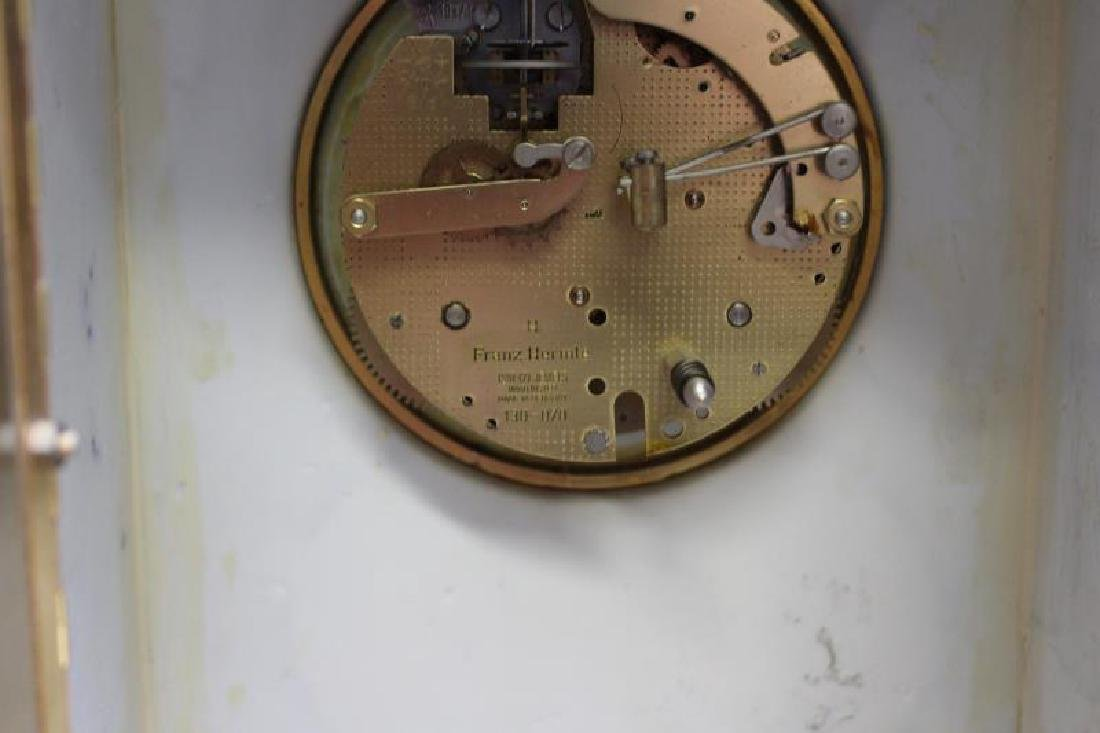 Bronze and Porcelain Carriage Clock with - 10