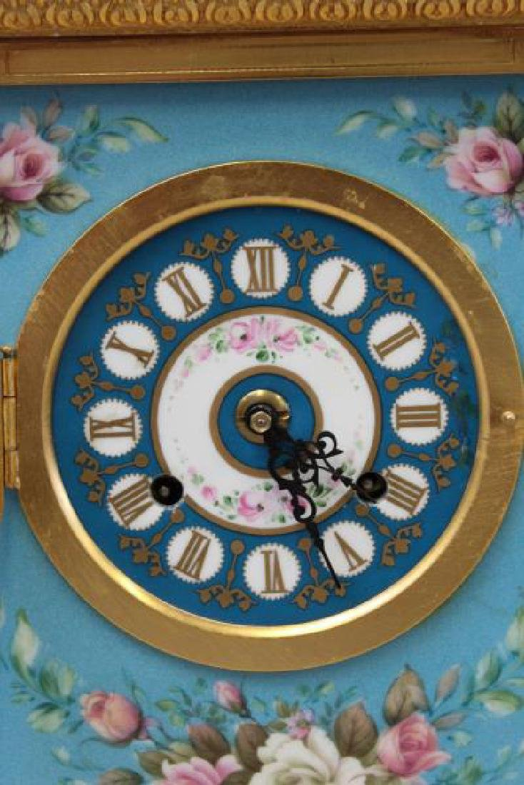 Bronze and Porcelain Carriage Clock with - 2