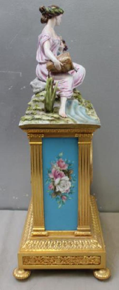 Bronze and Porcelain Carriage Clock with - 5