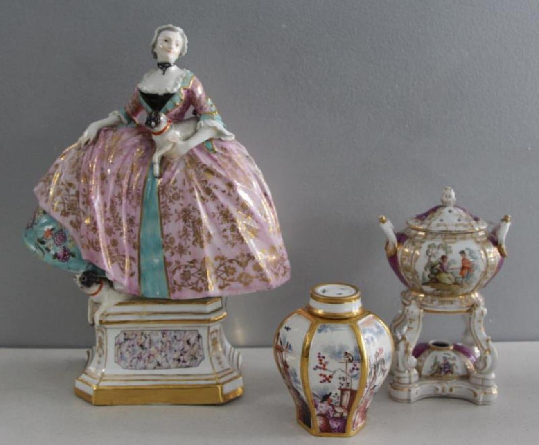 Grouping of Porcelains To Inc Meissen.