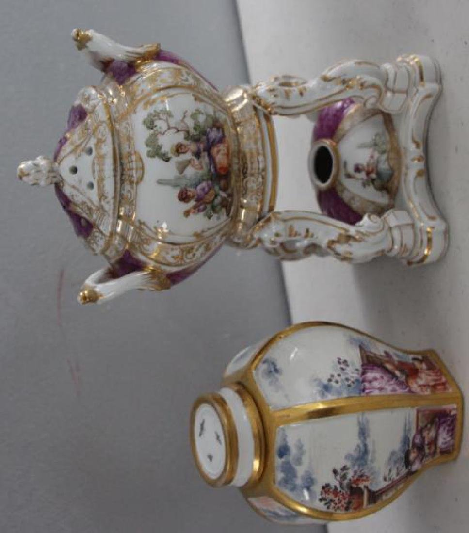 Grouping of Porcelains To Inc Meissen. - 6
