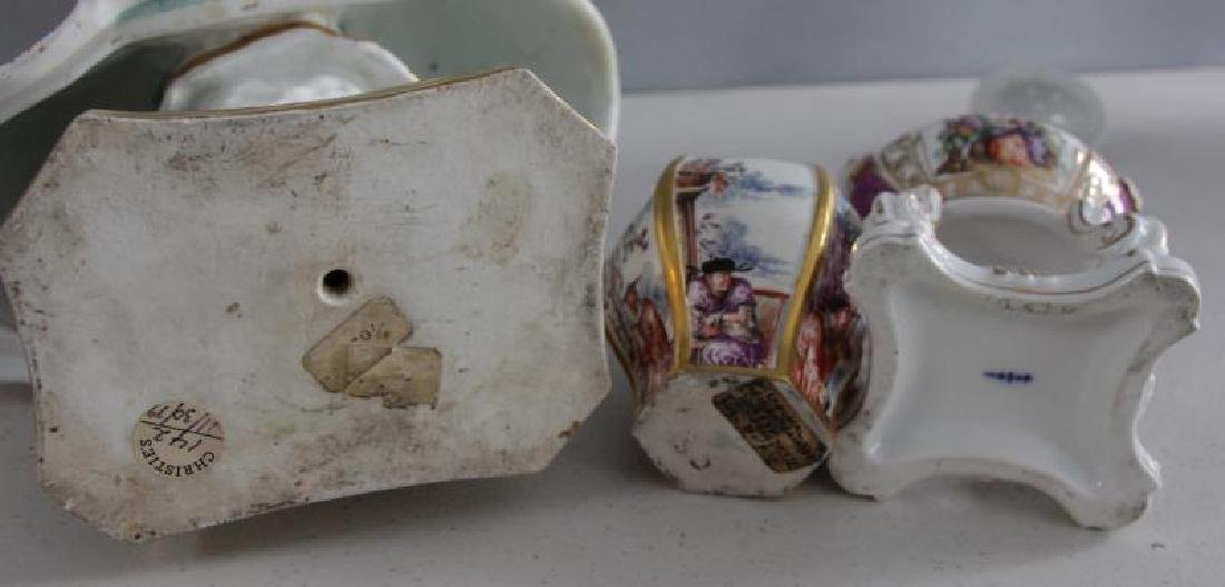 Grouping of Porcelains To Inc Meissen. - 9