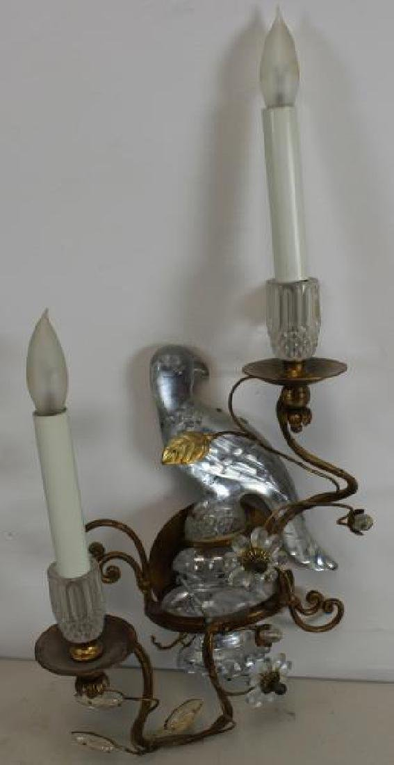 A Pair of Mirrored Glass and Gilt Metal Parrot - 2