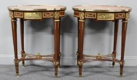 Pair of Louis XVI Style Gilt Metal Mounted Marble
