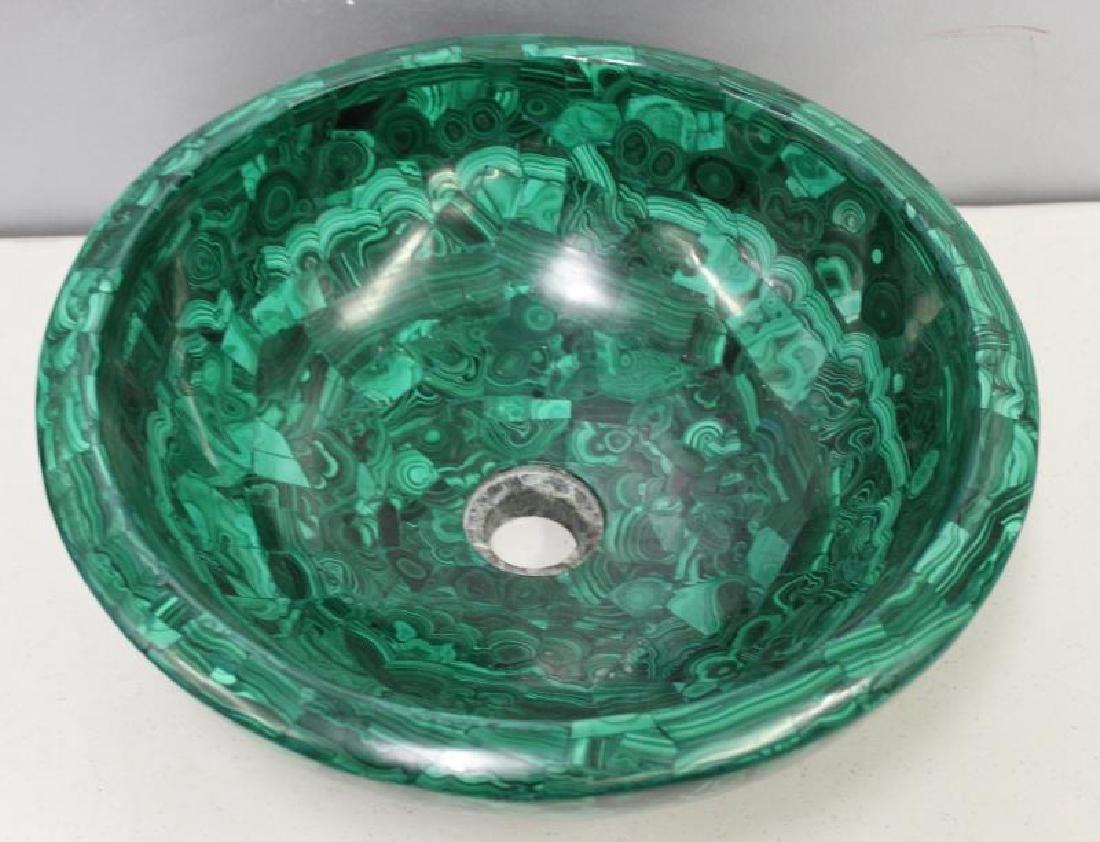 Large Quality Malachite Bowl as Sink.