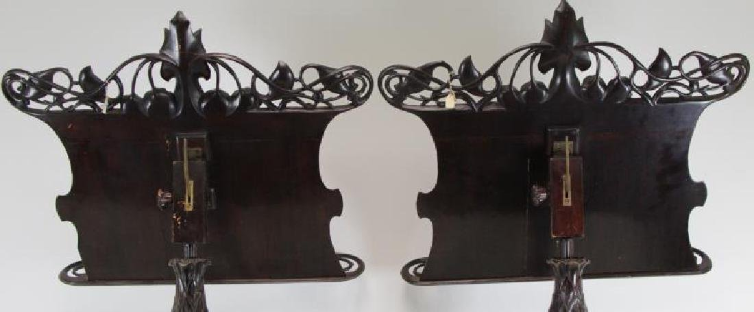 Pair of Finely Carved Art Nouveau Music Stands. - 8