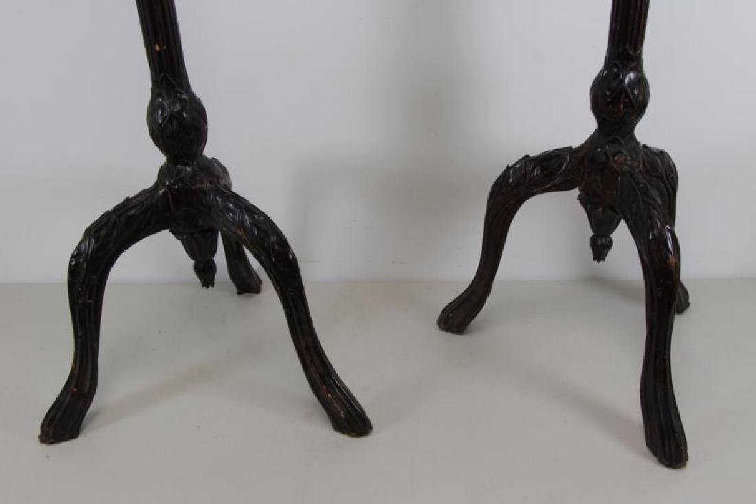Pair of Finely Carved Art Nouveau Music Stands. - 9
