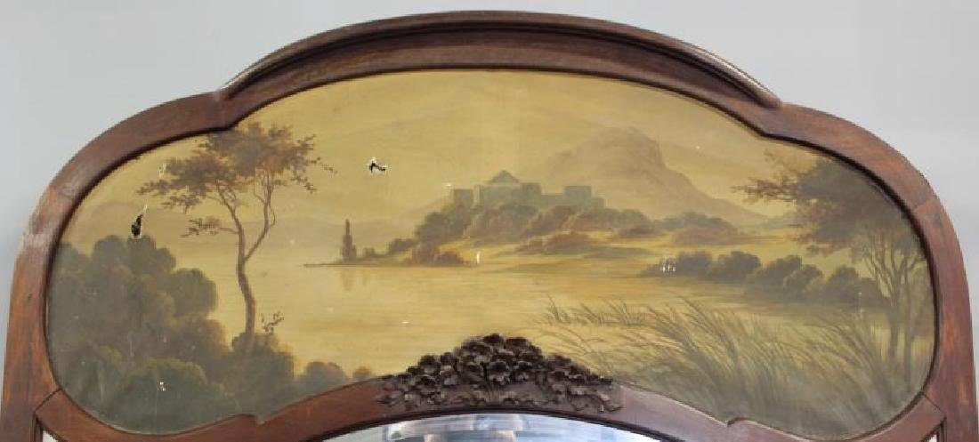 Art Nouveau Trumeau Style Mirror with Painting - 6