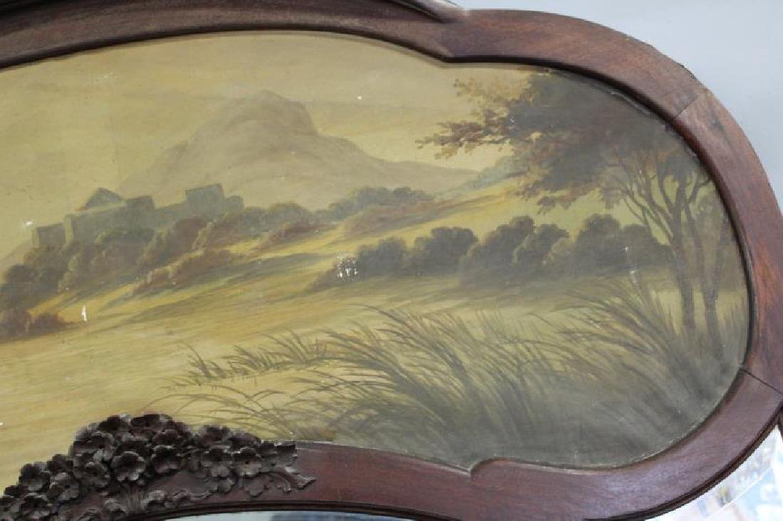 Art Nouveau Trumeau Style Mirror with Painting - 9