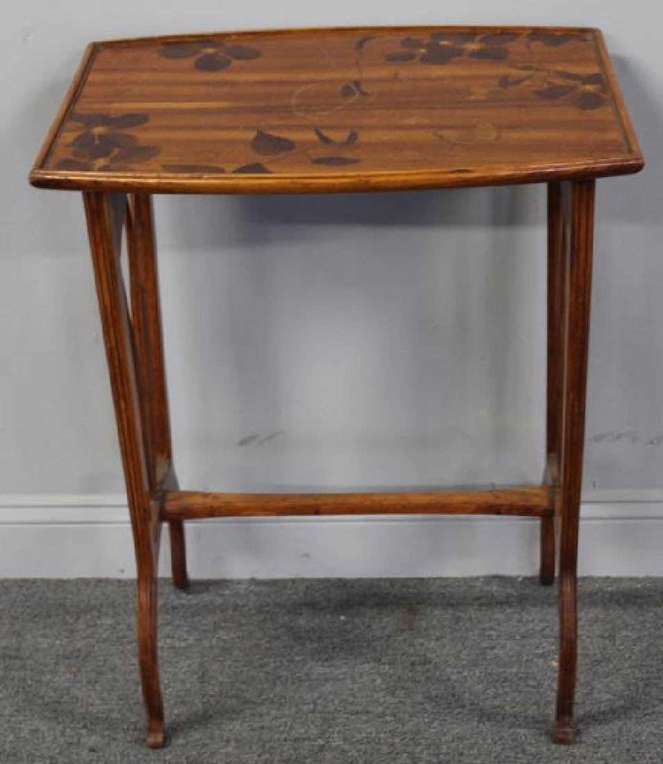 Art Nouveau Inlaid Table in the Manner of