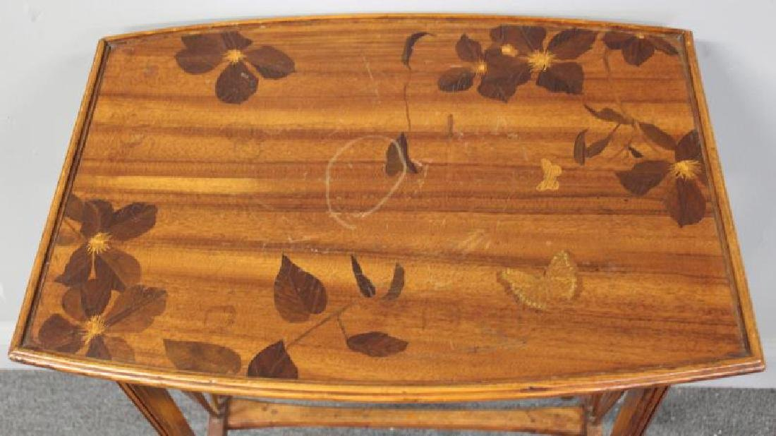 Art Nouveau Inlaid Table in the Manner of - 2