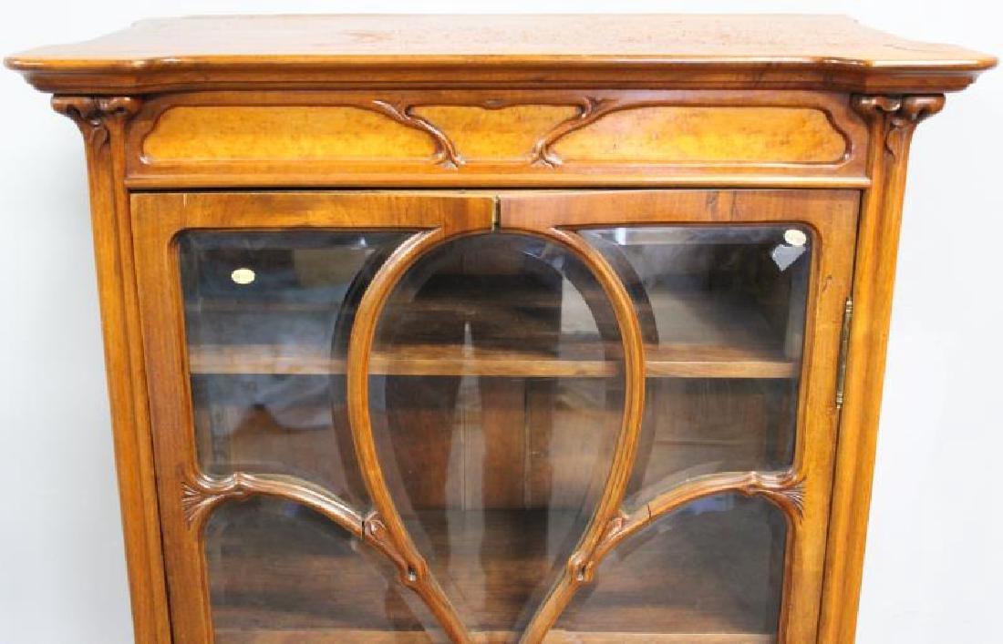 Art Nouveau Maple and Mahogany Cabinet. - 3