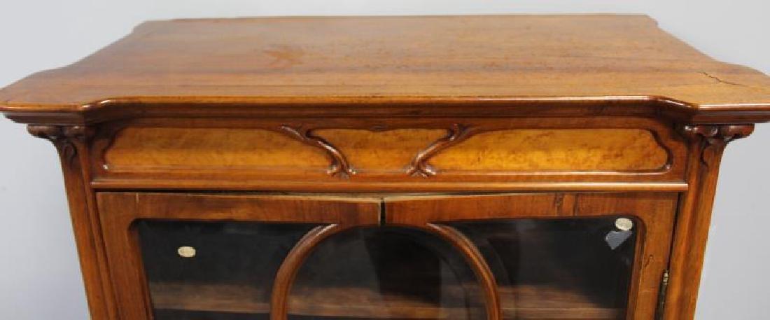 Art Nouveau Maple and Mahogany Cabinet. - 6