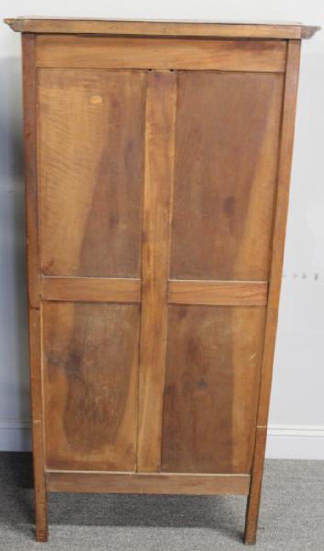 Art Nouveau Maple and Mahogany Cabinet. - 7
