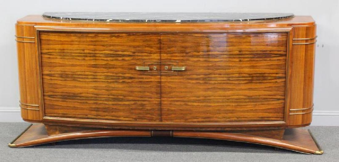 Burl  Walnut  Art  Deco Marble Insert  Sideboard
