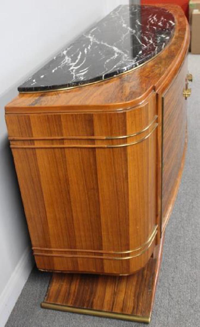 Burl  Walnut  Art  Deco Marble Insert  Sideboard - 2