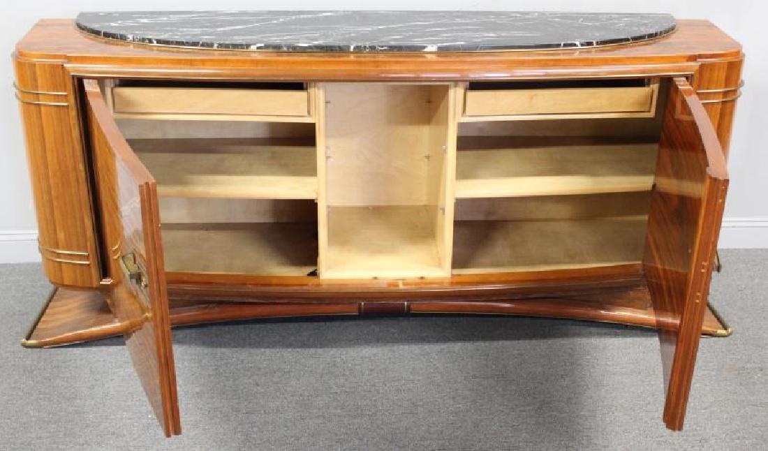 Burl  Walnut  Art  Deco Marble Insert  Sideboard - 4