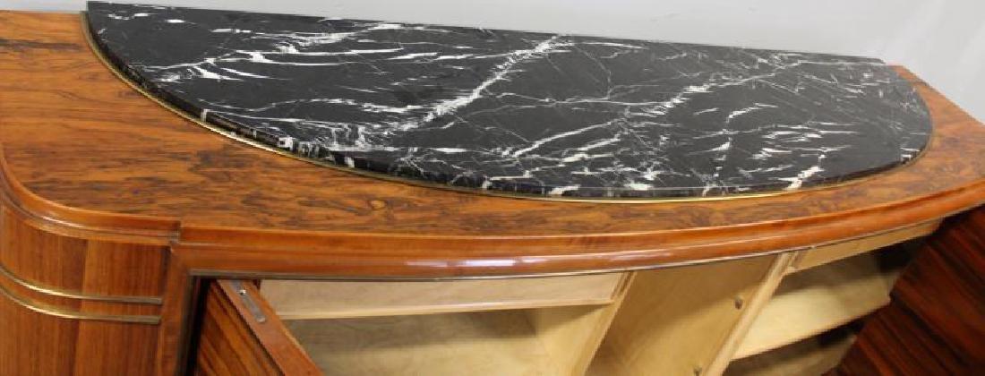 Burl  Walnut  Art  Deco Marble Insert  Sideboard - 5