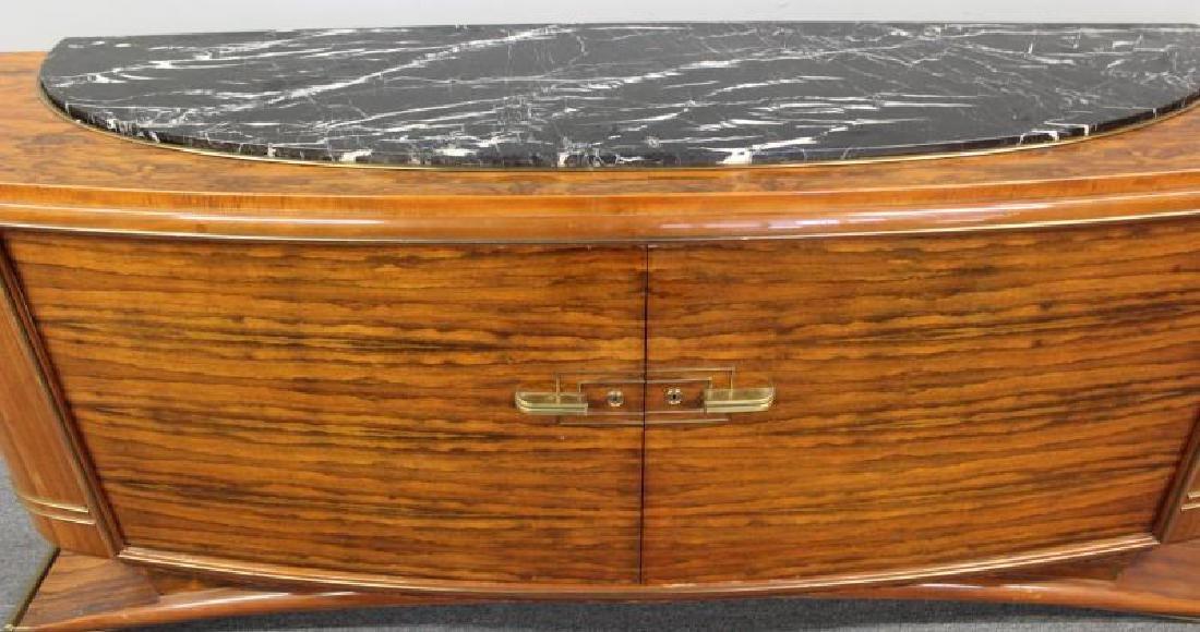 Burl  Walnut  Art  Deco Marble Insert  Sideboard - 7
