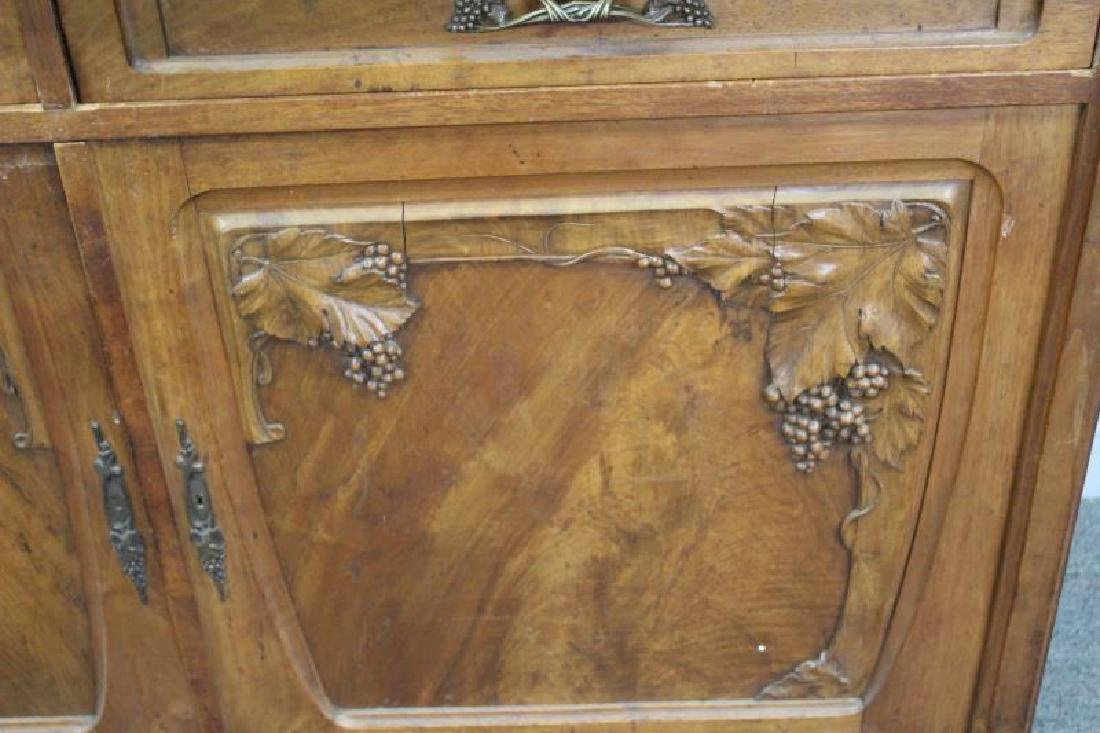 Art Nouveau Carved Server / China Cabinet - 3
