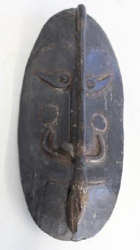 Antique Carved Wood African Mask.