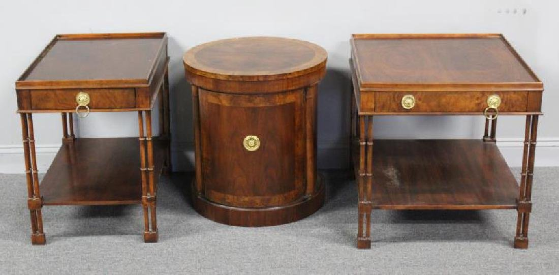 BAKER, 3 Signed End Tables To Inc  a Pair &