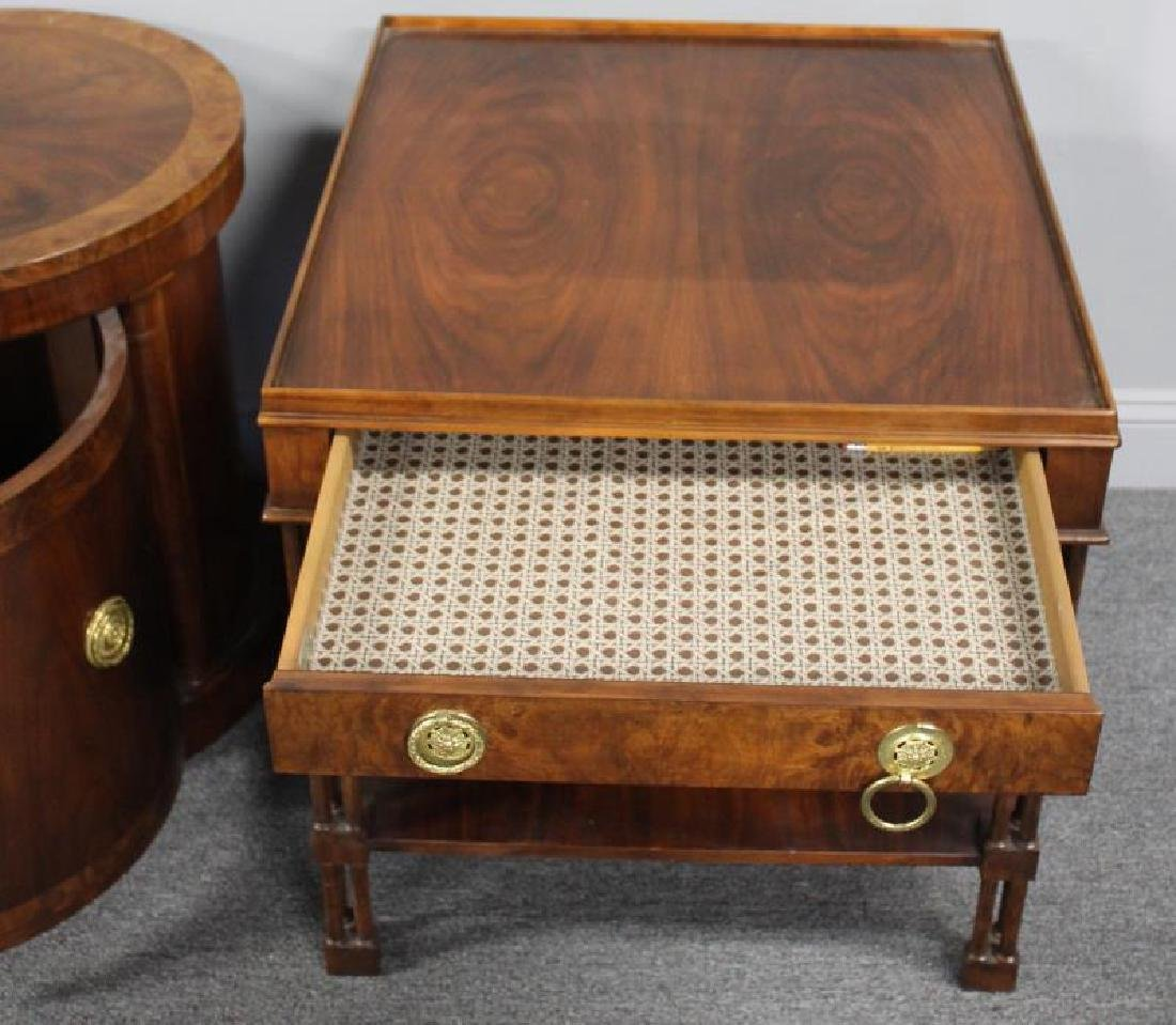 BAKER, 3 Signed End Tables To Inc  a Pair & - 5